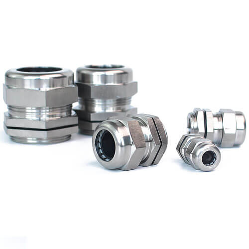 PG11 Stainless Steel Cable Gland - 5pcs